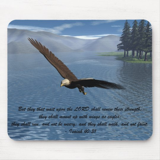 Eagle with Scripture Mouse Mat