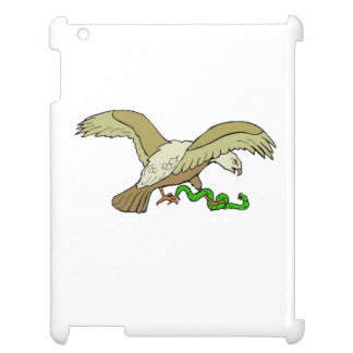 Eagle With Snake iPad Case