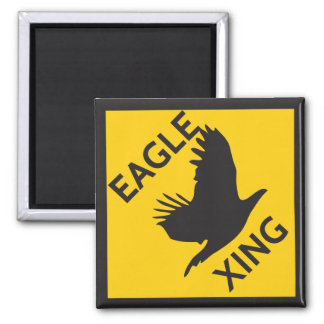 Eagle XING Square Magnet