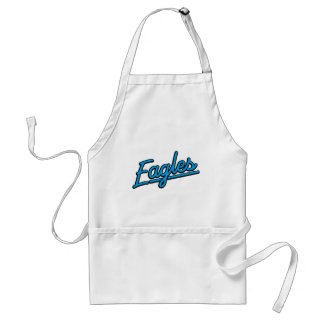 Eagles in cyan aprons