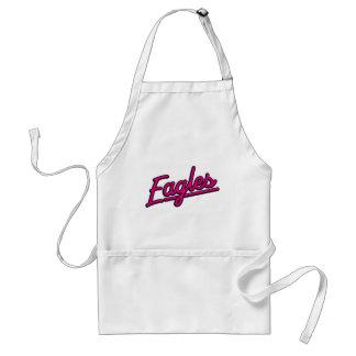 Eagles in magenta apron