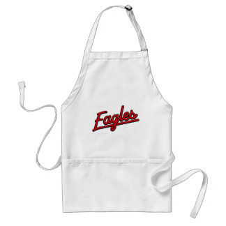 Eagles in red apron