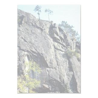"Eagle's nest, Bancroft, Ontario, Canada rock forma 5"" X 7"" Invitation Card"