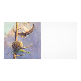 EAGLE'S NEST by SHARON SHARPE Custom Photo Card