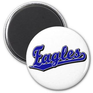 Eagles script logo in Blue 6 Cm Round Magnet