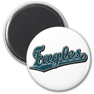 Eagles script logo in Custom Green 6 Cm Round Magnet
