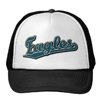 Eagles script logo in Custom Green Cap