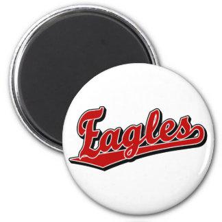 Eagles script logo in Red 6 Cm Round Magnet