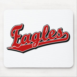 Eagles script logo in Red Mouse Pad