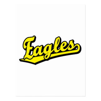 Eagles script logo in Yellow Post Card