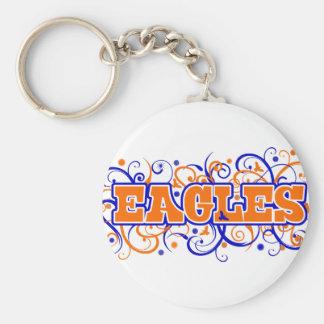 Eagles Swirl Design Keychains