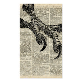 Eagle's Talon Claws Vintage Book Page Illustration Pack Of Standard Business Cards