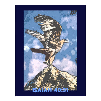 Eagles Wings - Isaiah 40:31 21.5 Cm X 28 Cm Flyer