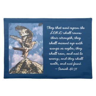 Eagles Wings - Isaiah 40:31 Placemats
