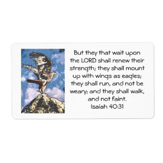 Eagles Wings - Isaiah 40:31 Shipping Label