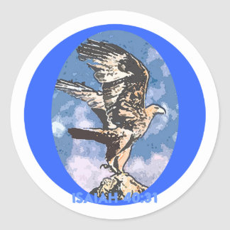 Eagles Wings - Isaiah 40:31 Classic Round Sticker