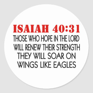 Eagles Wings Round Sticker