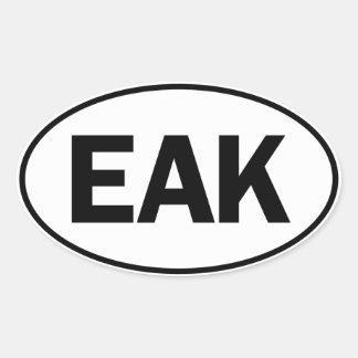 EAK Oval Identity Sign Sticker