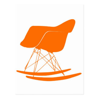 Eames molded plastic rocking chair postcard