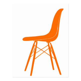 Eames molded plastic side chair postcard