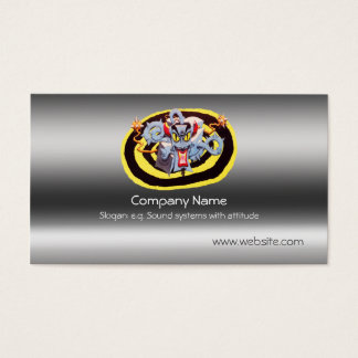 Ear Assaulting Wicked Mad Devil Sound System Business Card