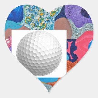 Ear Golf Ball Heart Sticker