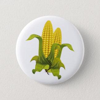 Ear of corn corn cobs 6 cm round badge