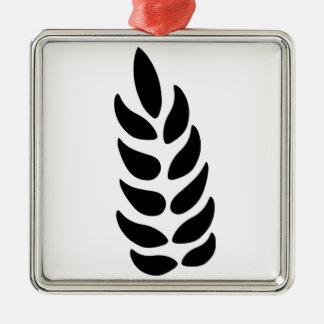 Ear of Wheat Silver-Colored Square Decoration