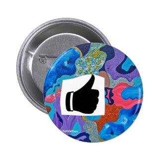 Ear Thumbs Up 6 Cm Round Badge