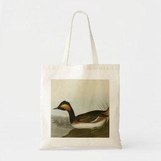 Eared Grebe Canvas Bag