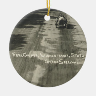 Earl Cooper Winner of the 1913 Corona Road Race Round Ceramic Decoration