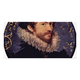 Earliest Selfportrait Of Nicholas Hilliard By Hill Photo Card Template