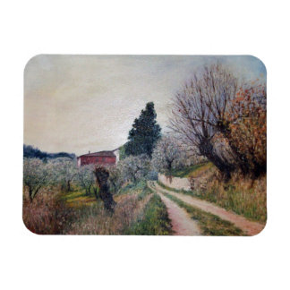 EARLIEST SPRING IN VERNALESE Tuscany Landscape Magnet
