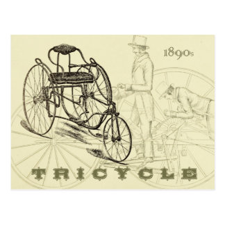 Early 1890s Tricycle Post Card