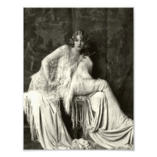 Early 1900s French Beauty Photo Print