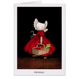 Early 1900's Thursday Sunbonnet Sue Greeting Card