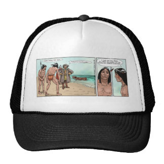 Early American Settlers Offbeat Cartoon Gifts Hat