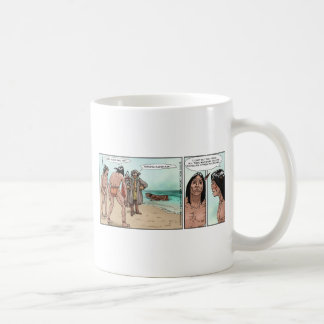 Early American Settlers Offbeat Cartoon Gifts Coffee Mugs