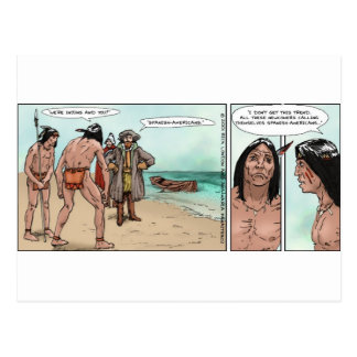 Early American Settlers Offbeat Cartoon Gifts Postcard