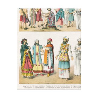 Early Asiatic Dress, from 'Trachten der Canvas Print