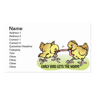 Early Bird Gets The Worm Pack Of Standard Business Cards