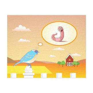 Early Bird on the Farm Children's Canvas