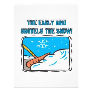 Early Bird Shovels The Snow Custom Flyer