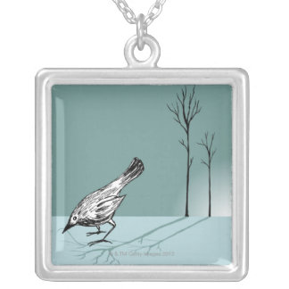 Early Bird Silver Plated Necklace