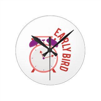 Early Brid Round Clocks