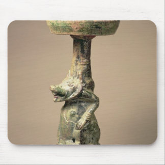 Early Chinese pottery lamp, tomb artefact Mouse Mat