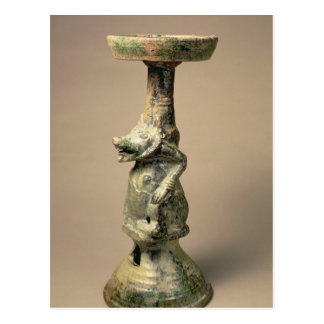 Early Chinese pottery lamp, tomb artefact Postcard