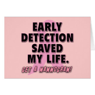 Early Detection Saves Lives Breast Cancer Design Greeting Card