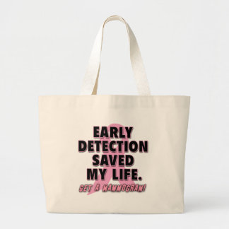 Early Detection Saves Lives Breast Cancer Design Jumbo Tote Bag