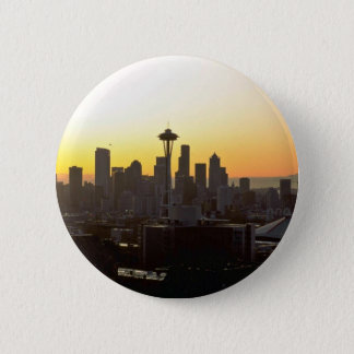 Early Evening In City 6 Cm Round Badge